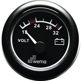 Wema Вольтметр 24 В Wema IPVR-BB-18-32 18 - 32 В 52 мм