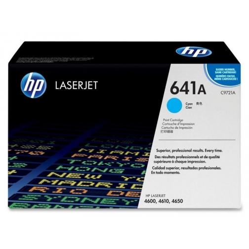 Оригинальный картридж C9721A для HP CLJ 4600, 4650 (голубой, 8000 стр.) 814-01 Hewlett-Packard 852521 1