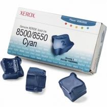 Твердые чернила Xerox 108R00669 для Xerox Phaser 8500, 8550, оригинальные (голубые, 3 шт, 3000 стр) 8002-01