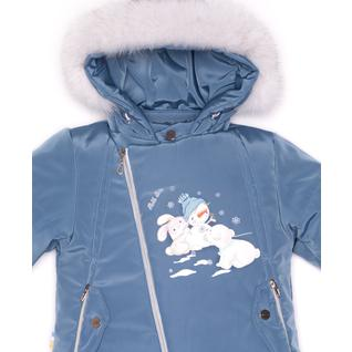 Комплект MalekBaby (Куртка + Полукомбинезон), С опушкой, Индиго арт.412ШМ/2