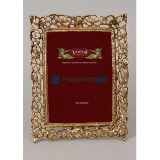 """Фоторамка из бронзы """"Мерилин"""" средняя, цвет золотой (размер фото 13х18)"""