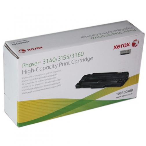 Картридж 108R00909 для Xerox Phaser 3140, 3155, 3160 (чёрный, 2500 стр.) 1255-01 852103 1