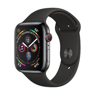 Часы Apple Watch Series 4 Cellular 40mm Space Black Stainless Steel Case with Black Sport Band MTUN2 MTVL2