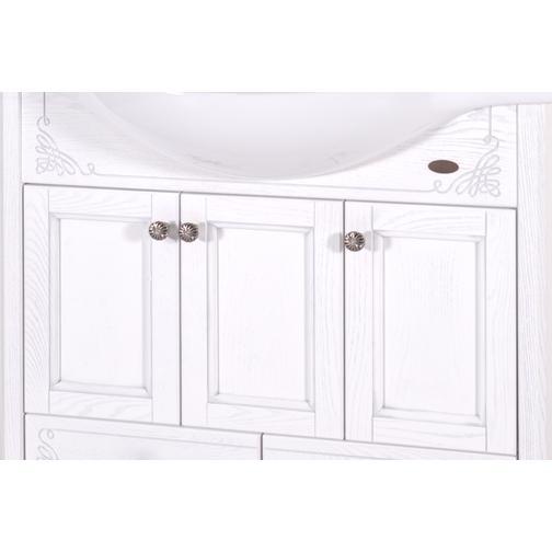 Подстолье Салерно 105 (Белый/Патина серебро) ASB-Woodline 38117090 1