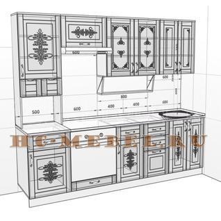 Кухня БЕЛАРУСЬ-4В модульная, правая, левая