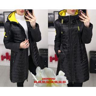 Длинная женская весенняя куртка большого размера р.48-60