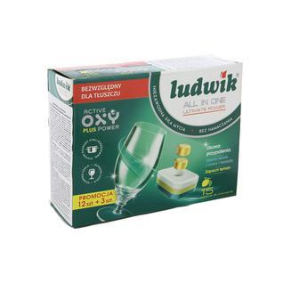 Таблетки для посудомоечных машин Ludwik All-in-One Ultimate Power 15 шт