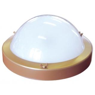 Светильник для бани ТЕРМА 1 золото (круглый, до +120 С, IP65, арт. НББ 03-100-001)