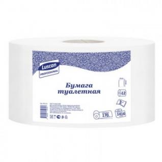 Бумага туалетная д/дисп Luscan Professional 2сл бел цел втул 170м12рул/уп