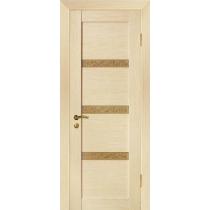 Дверное полотно МариаМ ЭЛИТ Квартир шпонированная покрытие ПУ лак (3 узких стёкла) 600-900 мм