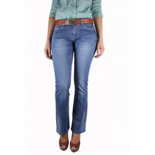 Женские джинсы с ремнём MossMore MR-1093C-393