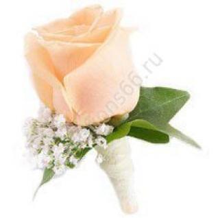 Бутоньерка с розой-5
