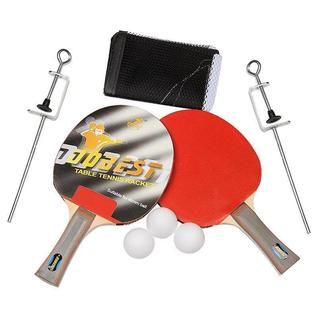 Набор для н/т Dobest Br33 0 звезд (2 ракетки + 3 мяча + сетка + крепеж)