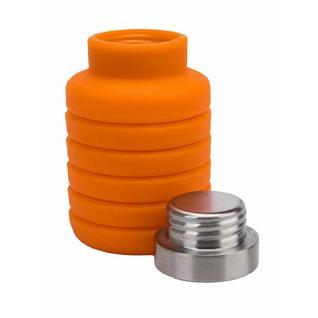 Складная силиконовая бутылка для воды 500 мл (Оранжевая) Bradex