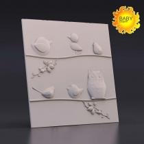Гипсовая панель LUX DEKORA Пташки