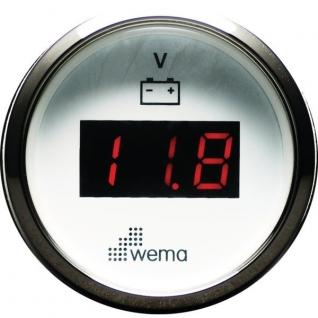 Wema Вольтметр цифровой с красным ЖК-экраном Wema IEVR-WS-8-32 8 - 32 В 52 мм