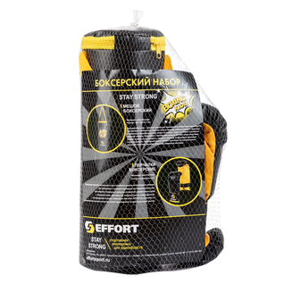 Набор для бокса Effort E1454, к/з, черный, в сетке