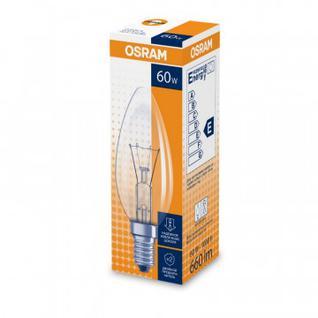 Лампа накаливания 60W 230V E14 10X10X1 NCE OSRAM свеча прозрачная
