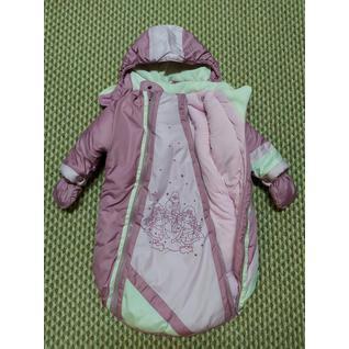 2-03-07-01 конверт розовый для девочки РОБИ КРИС (62-74) (62)