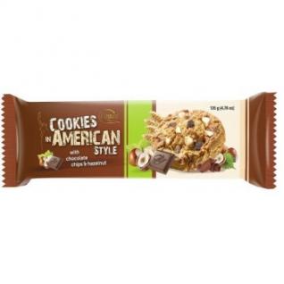 Печенье American Cookies шоколад+изюм 135г