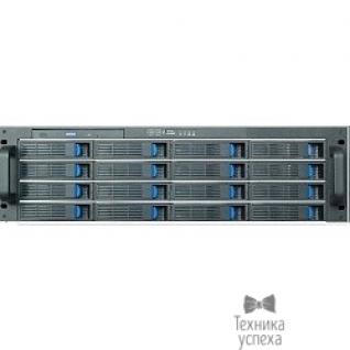 "Procase Procase ES316-SATA3-B-0 3U 16 SATAIII/SAS hotswap HDD, глубина 650мм, MB 12""x13"", без Б/П ,черный"