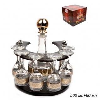 БАР-ПОДКОВА набор для напитков 7 предметов Версаль / 01/134 ГН /уп1/ графин+6 рюмок