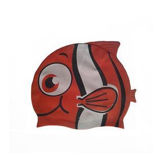 """Шапочка для плавания силиконовая Dobest """"рыбка"""" Ys20 (красная)"""