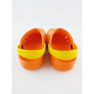 610-02 кроксы ораньжево/желтый дюна.27-34 (34) Дюна