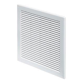 Решетка вентиляционная вытяжная 200*200 белая серия TRU Виенто