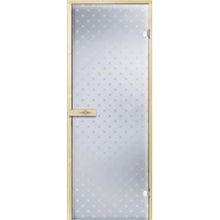 Дверь для бани ЗВЕЗДА 7х19, прозрачное матовое