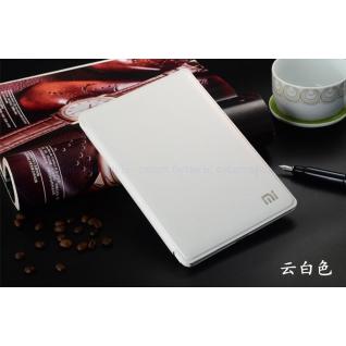 Xiaomi MiPad 2 оригинальный кожаный чехол MI (белый с бампером)