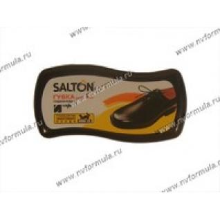 Губка SALTON для обуви с норковым маслом для гладкой кожи черная
