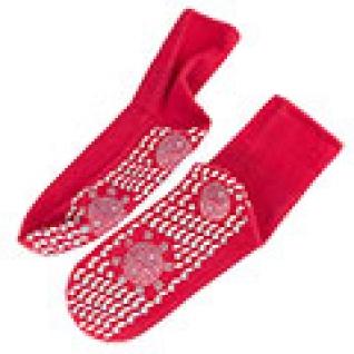 Турмалиновые носки красные (пара), размер универсальный