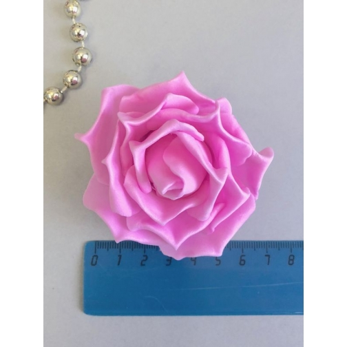 Роза из латекса 60-70 мм, с защипами, 1шт, розовый 36977817