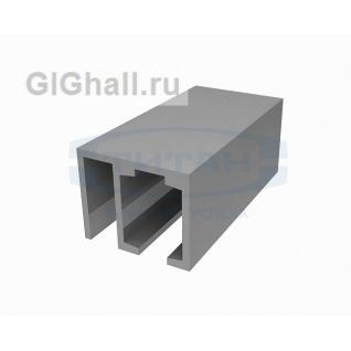 Трек алюминиевый с держателем неподвижной панели T-610 L=2000mm AL