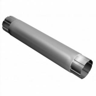 Труба водосточная соединительная Гранд Лайн 90мм 1м металлическая RAL 9003 белый