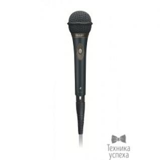 Philips Микрофон Philips SBCMD650/00 моно 50-15000Гц 5м 3.5мм переходник 6.3мм 72дБ направленный, регулятор громкости, поглощение внешних шумов