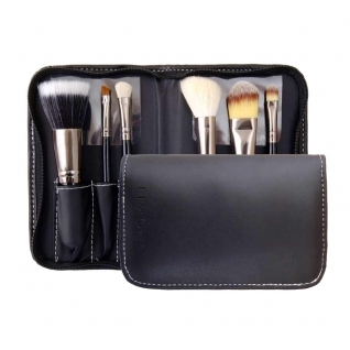 LIMONI Подарочный профессиональный набор кистей для макияжа PRO STYLE COMPACT - 6 кистей + чехол