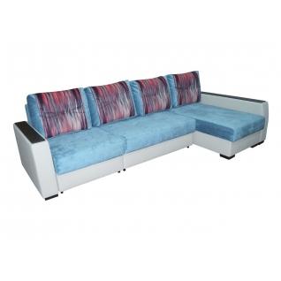 Палермо 9 МДФ Гранд угловой диван-кровать с сектором