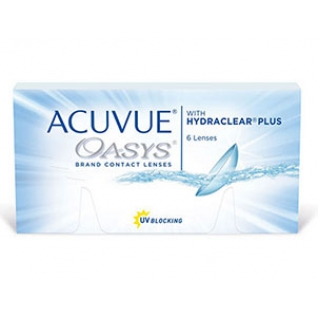ACUVUE OASYS with HYDRACLEAR Plus. Оптич.сила -6,0. Радиус 8,4