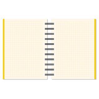 Бизнес-тетрадь А6,150л,кл,плас.спир.Attache Selection SPRING BOOK жел 84238