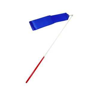 Лента для художественной гимнастики Amely Agr-201 4м, с палочкой 46 см, синий