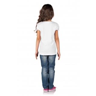Фуфайка (футболка) для девочки, Маша и Медведь, цвет: белый, размер: 104(60)