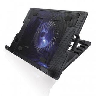 Подставка для ноутбука Crown, охлажд, до 17 дюйм, 1 вент, черная,CMLS-926