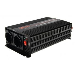 Преобразователь инверторный а/м WESTER MSW1300 24-220В+USB; 1300Вт ...