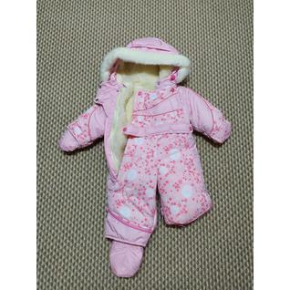 3153 комбинезон-трансформер розовый для девочки LittleBoy (56-86) (68)