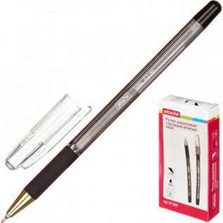 Ручка шариковая Attache Goldy, 0,3мм, черный, маслян.,неавт., с манж.