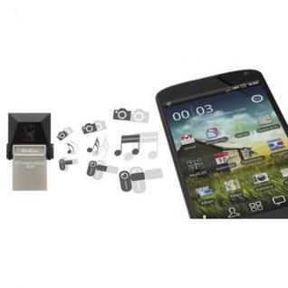 Флеш-память Kingston microDuo, 32Gb, USB 3.0, microUSB, черный,DTDUO3/32GB