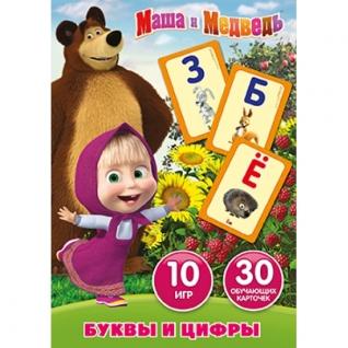 """Карточки Развивающие """"Умка"""" Маша И Медведь.Учим Алфавит И Цифры (30 Карточек)"""