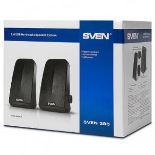 Акустическая система Sven 380 USB 6Вт, чёрная